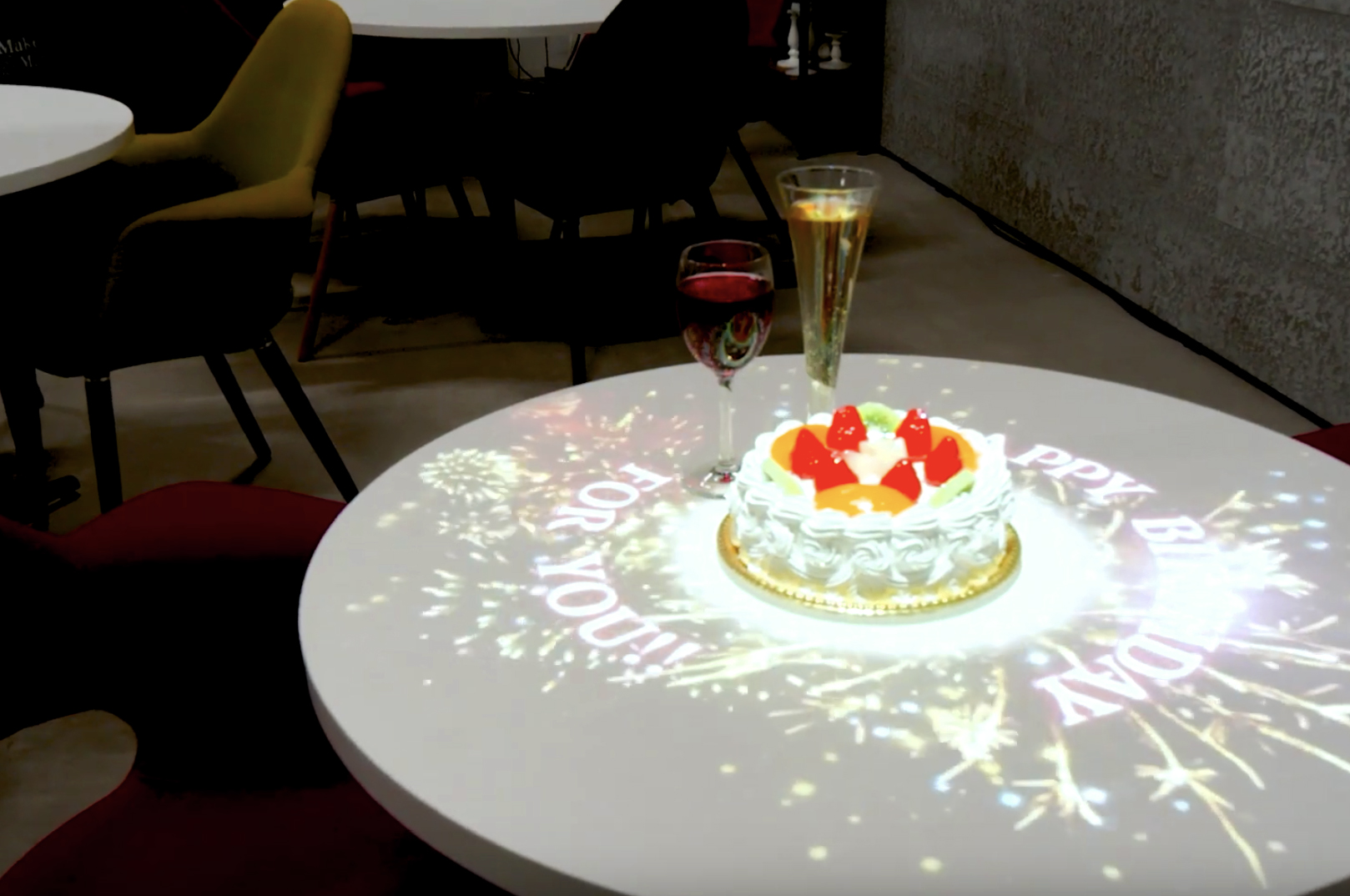 テーブルへの投影例